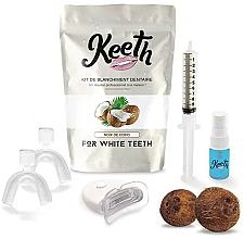 "Profumi e cosmetici Kit per lo sbiancamento dei denti ""Cocco"" - Keeth Coconut Teeth Whitening Kit"