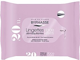 Profumi e cosmetici Salviette struccanti, 20 pz - Byphasse Make-up Remover Milk Proteins All Skin Wipes