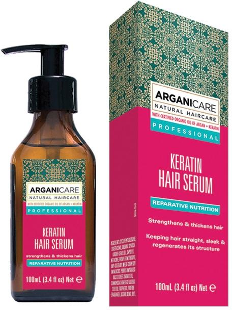 Siero per capelli alla cheratina - Arganicare Keratin Repairing Hair Serum
