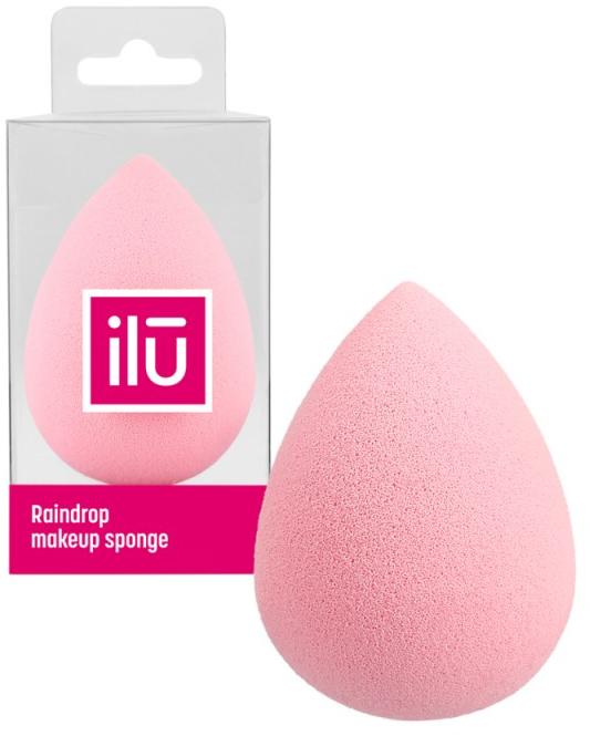 Spugna trucco, goccia, rosa - Ilu Sponge Raindrop Pink