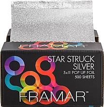 Profumi e cosmetici Pellicola elastica goffrata per parrucchieri, 12,5 x 28 cm - Framar Star Struck Silver