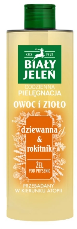 "Gel doccia ""Verbasco e olivello spinoso"" - Bialy Jelen — foto N1"