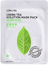 Profumi e cosmetici Maschera viso in tessuto - Lebelage Green Tea Solution Mask