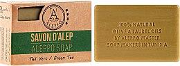 """Profumi e cosmetici Sapone di Aleppo """"Tè Verde"""" - Alepeo Aleppo Soap Green Tea 8%"""