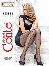 """Profumi e cosmetici Collant """"Fantasy Desire"""" 20 Den, nero - Conte"""