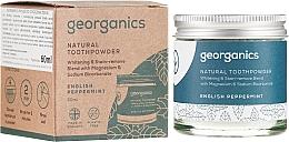Profumi e cosmetici Polvere naturale sbiancante per i denti - Georganics English Peppermint Natural Toothpowder