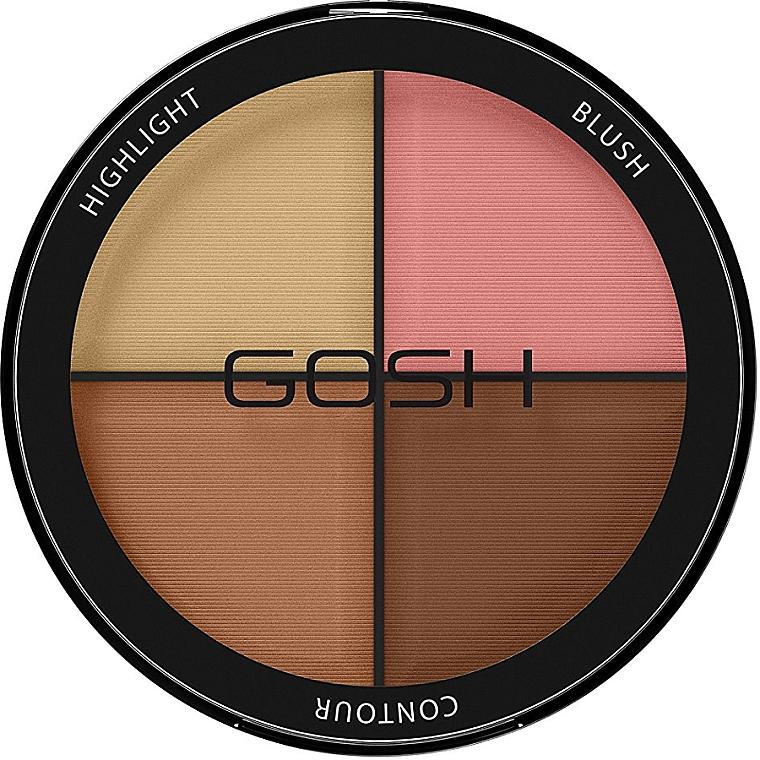 Palette contouring 4 in 1 - Gosh Contour Strobe Kit