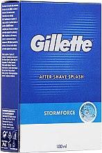 """Profumi e cosmetici Lozione dopobarba """"Spicy"""" - Gillette Blue Storm Force After Shave Splash"""