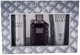 Profumi e cosmetici Guess Dare Men - Set (edt/100ml + deo/226ml + sh/gel/200ml)