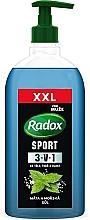 """Profumi e cosmetici Gel doccia 3in1 """"Menta e sale marino"""" - Radox Men XXL Sport 3in1 Shower Gel"""