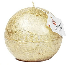 Profumi e cosmetici Candela naturale, palla, 12 cm - Ringa Golden Glow Candle
