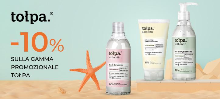Sconto del 10% sulla gamma promozionale Tołpa. I prezzi sul sito sono già scontati