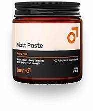 Profumi e cosmetici Pasta per capelli - Beviro Matt Paste Strong Hold