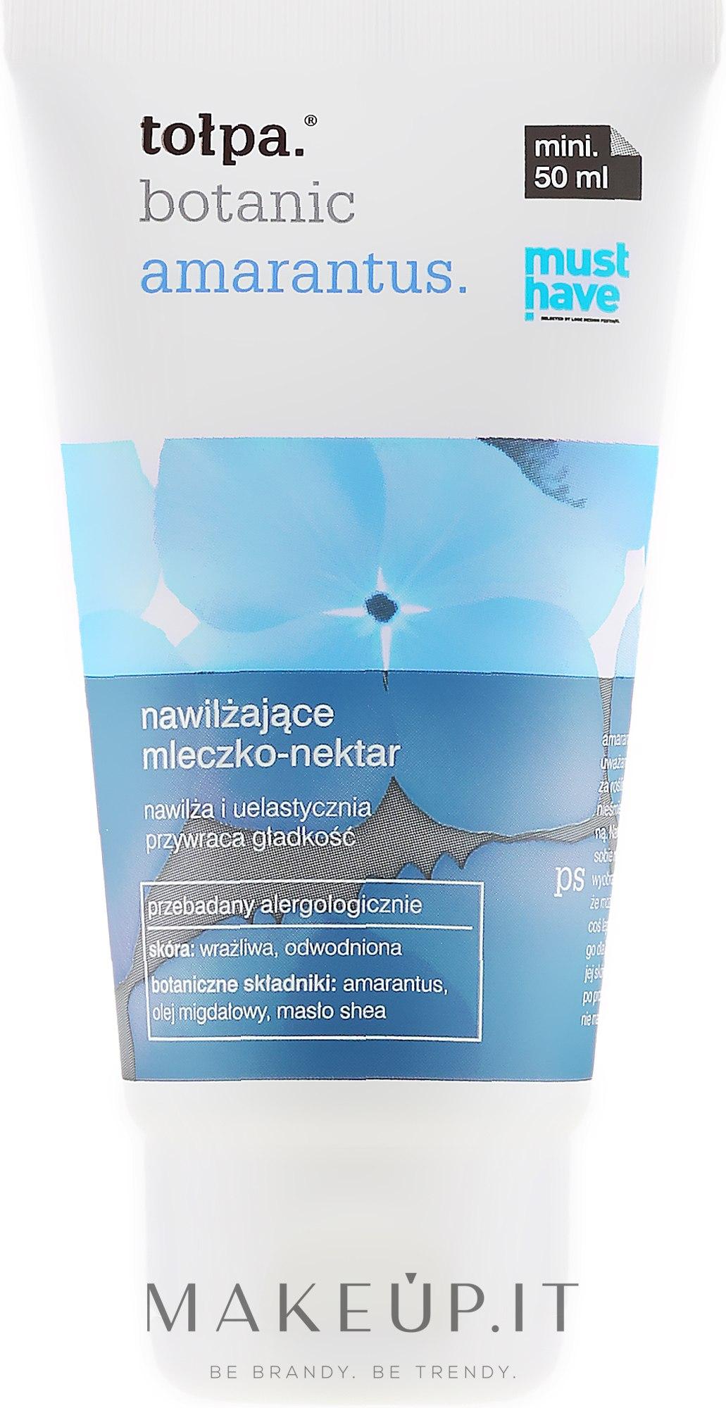 Latte corpo idratante - Tolpa Botanic Amarantus Body Milk — foto 50 ml