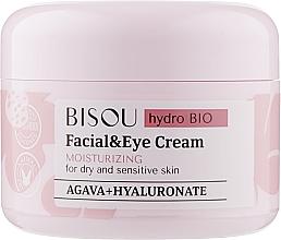 Profumi e cosmetici Crema idratante viso e contorno occhi - Bisou Hydro Bio Facial Eye Cream