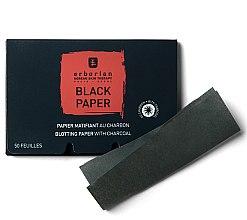 Profumi e cosmetici Salviette nere opacizzanti con carbone attivo - Erborian Blotting Paper With Charcoal