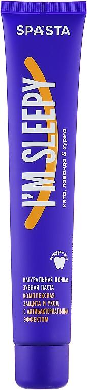 """Dentifricio notturno naturale """"Protezione completa e cura con effetto antibatterico"""" - Spasta I Am Sleepy Toothpaste — foto N2"""