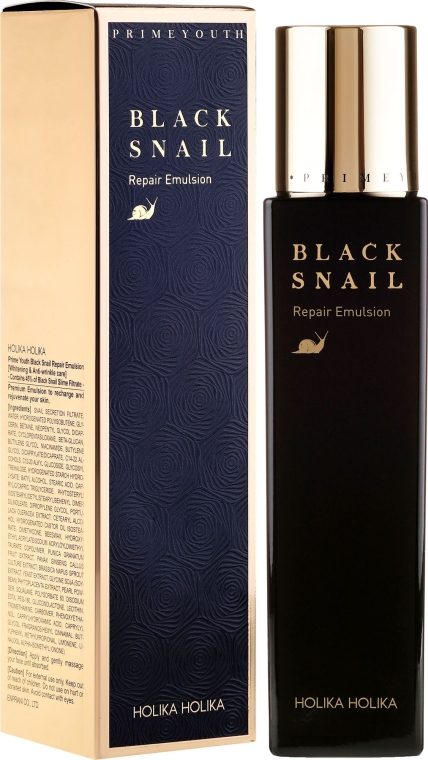 Emulsione rigenerante con estratto di lumaca nera - Holika Holika Prime Youth Black Snail Repair Emulsion