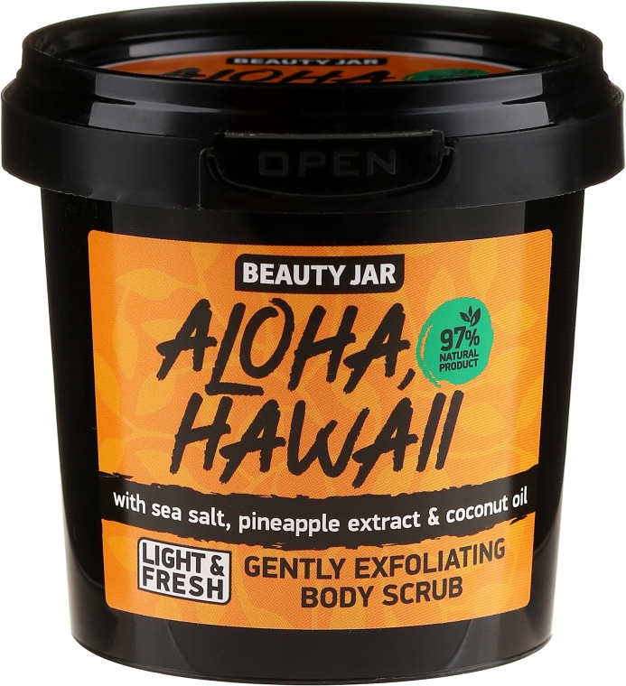 Scrub corpo - Beauty Jar Aloha Hawaii Gently Exfoliating Body Scrub