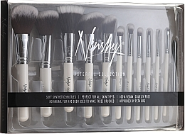 Profumi e cosmetici Set di pennelli - Nanshy Masterful Collection Pearlescent White (Brush/12pz)