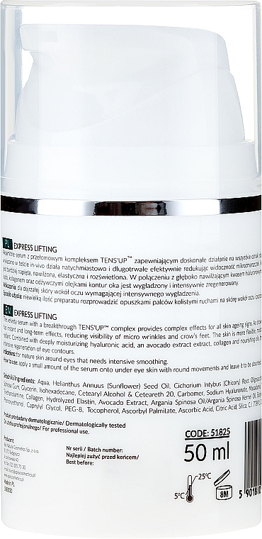 Siero contorno occhi - APIS Professional Express Lifting Brightening Filling Wrinkle Serum With Tens UP — foto N2