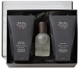 Profumi e cosmetici Bath House Spanish Fig and Nutmeg - Set (edc/100ml + shave/gel/100ml + shave/balm/100ml)