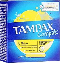 Profumi e cosmetici Tamponi con applicatore, 8 pezzi - Tampax Compak Regular