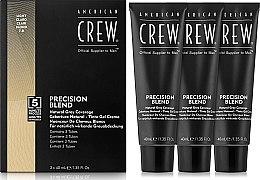 Profumi e cosmetici Sistema di mascheratura di capelli grigi (livello 7-8) 3x40 ml - American Crew Precision Blend Light