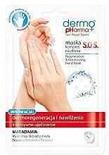 "Profumi e cosmetici Maschera mani ""SOS Dermorigenerazione e idratazione"" - Dermo Pharma Skin Repair Expert S.O.S. Regeneration & Moisturizing Hand Mask"