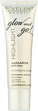 Profumi e cosmetici Illuminante viso - Eveline Cosmetics Highlight Glow And Go