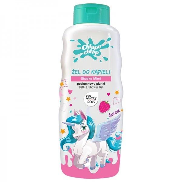 Gel doccia per bambini, con l'aroma di fragole - Chlapu Chlap Bath & Shower Gel