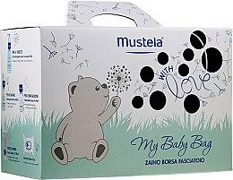 Profumi e cosmetici Set - Mustela My Baby Bag Set (water/300ml + gel/shm/200ml + f/cr/40ml + b/cr/50ml + wipes/25pcs + bag)