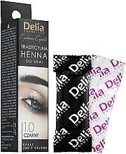 Profumi e cosmetici Hena-tinta in polvere per sopracciglia, nera - Delia Brow Dye Henna Traditional Black