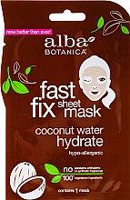 Profumi e cosmetici Maschera idratante al cocco - Alba Botanica Fast Fix Coconut Hydrate Sheet Mask
