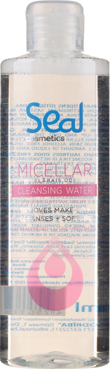 Acqua micellare per pelli sensibili - Seal Cosmetics Micellar Cleansing Water