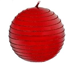 Profumi e cosmetici Candela decorativa, 8 cm, palla, rossa - Artman Andalo Metalic