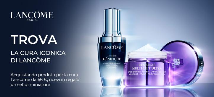 Acquistando prodotti per la cura Lancôme da 66 €, ricevi in regalo un set di miniature