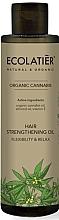 "Olio per capelli ""Elasticità e forza"" - Ecolatier Organic Cannabis Hair Strengthening Oil — foto N1"