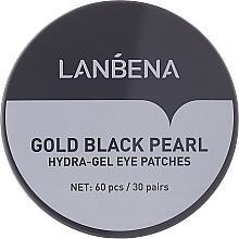 Profumi e cosmetici Patch contorno occhi in idrogel con oro e perle nere - Lanbena Gold Black Pearl Hydra-Gel Eye Patch