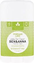 Profumi e cosmetici Deodorante Persiano Lime Soda (plastica) - Ben & Anna Natural Soda Deodorant Persian Lime