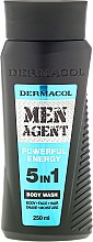 Profumi e cosmetici Gel doccia - Dermacol Men Agent Powerful Energy 5in1 Body Was