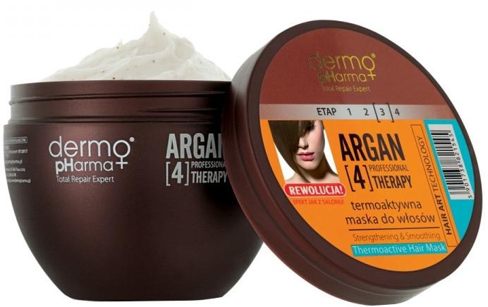 Maschera per capelli termoattiva - Dermo Pharma Argan Professional 4 Therapy Strengthening & Smoothing Mask