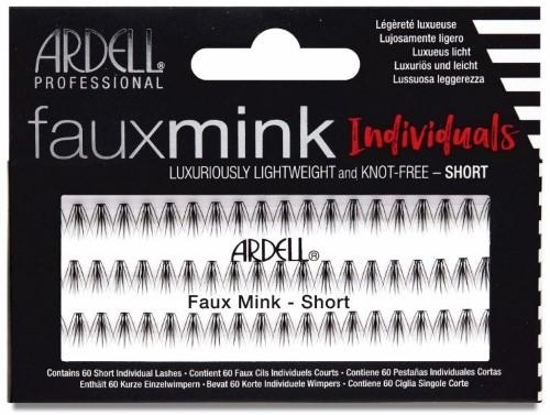 Ciglia finte - Ardell Faux Mink Individuals Knot Free-Short Black