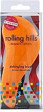 Profumi e cosmetici Spazzola per capelli, arancione - Rolling Hills Detangling Brush Travel Size Orange