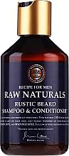 Profumi e cosmetici Shampoo e balsamo per barba - Recipe For Men RAW Naturals Rustic Beard Shampoo & Conditioner