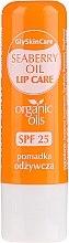 Profumi e cosmetici Balsamo labbra con olio di olivello spinoso biologico - GlySkinCare Organic Seaberry Oil Lip Care