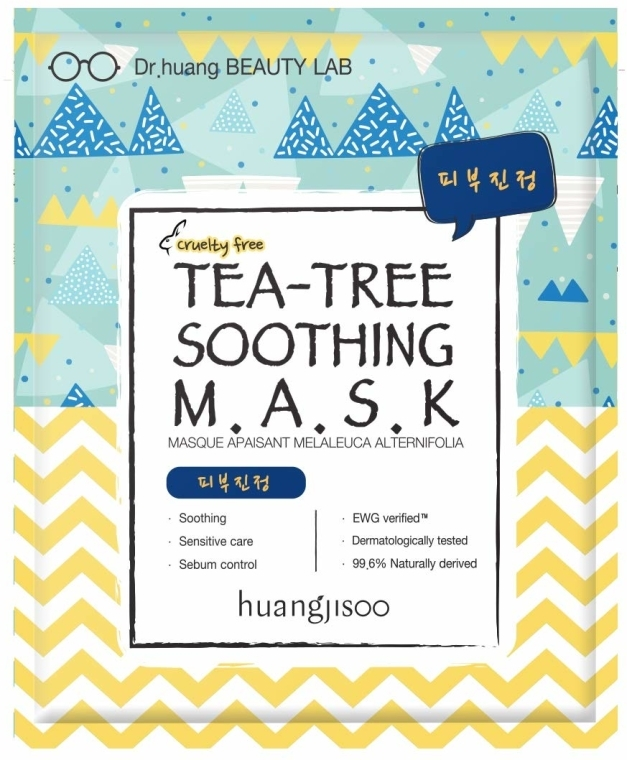 Maschera in tessuto lenitiva con estratto di tea tree - Huangjisoo Tea-Tree Soothing Mask — foto N1