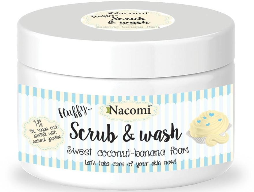 "Schiuma-peeling ""Coco-banana"" - Nacomi Scrub and Wash Sweet Coconut-Banana Foam"