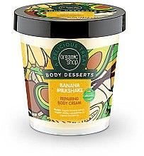 """Profumi e cosmetici Crema corpo rigenerante """"Frappè alla banana"""" - Organic Shop Body Desserts Banana Milk Shake"""