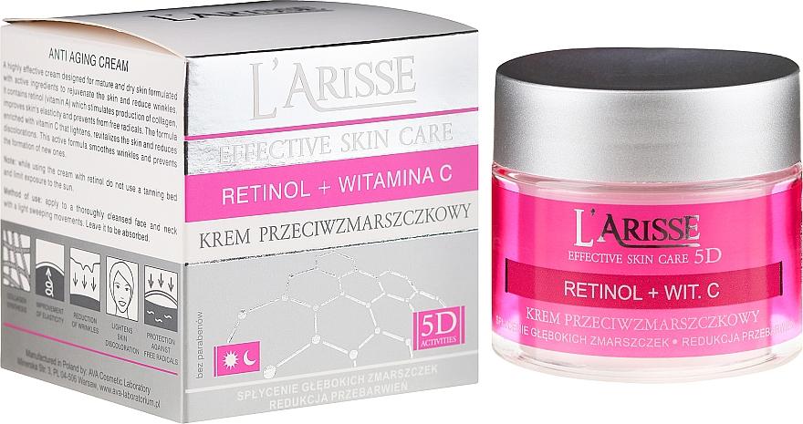Crema viso antirughe al retinolo e vitamina C 50+ - Ava Laboratorium L'Arisse 5D Anti-Wrinkle Cream Retinol + Vitamin C